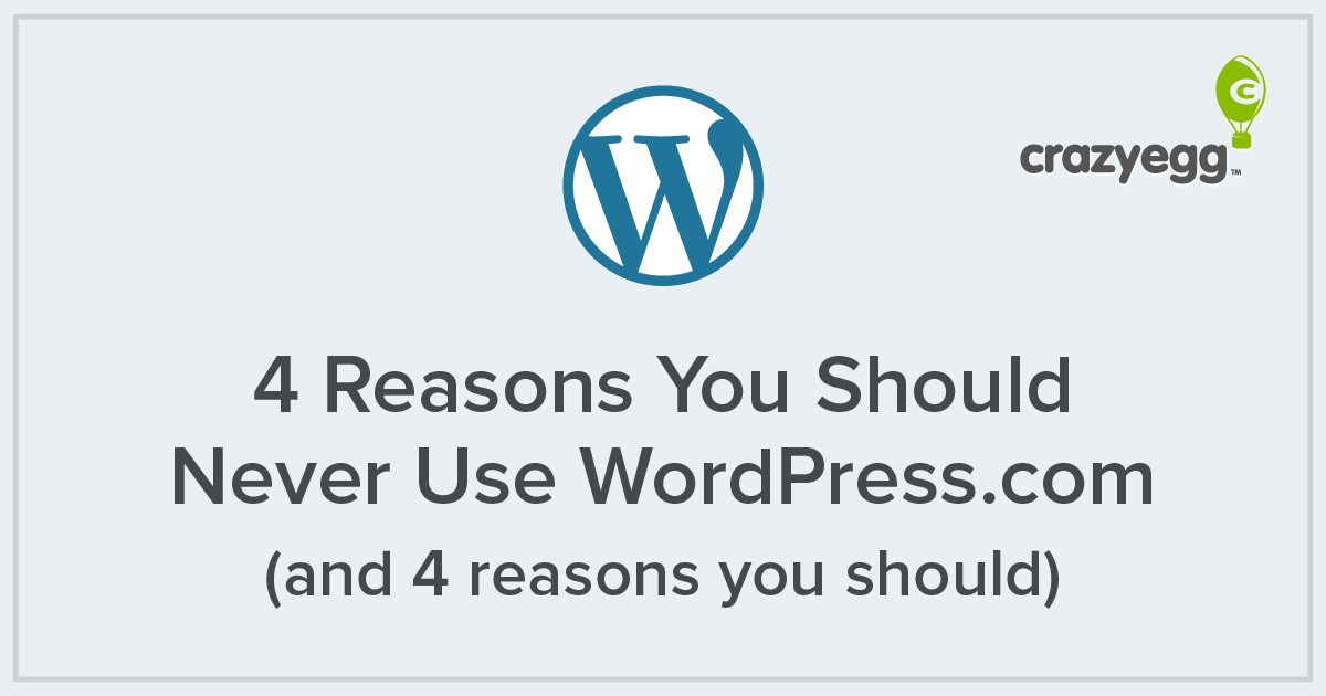 4 reasons you should never use wordpress   and 4