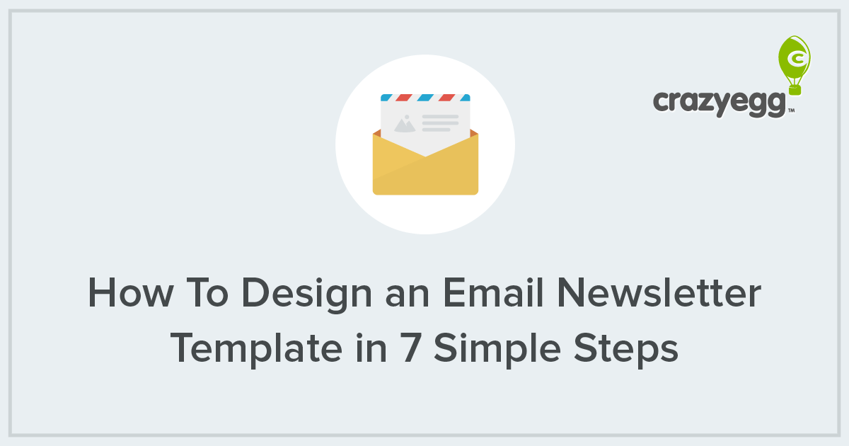 How To Design An Email Newsletter Template In Simple Steps - Simple newsletter template