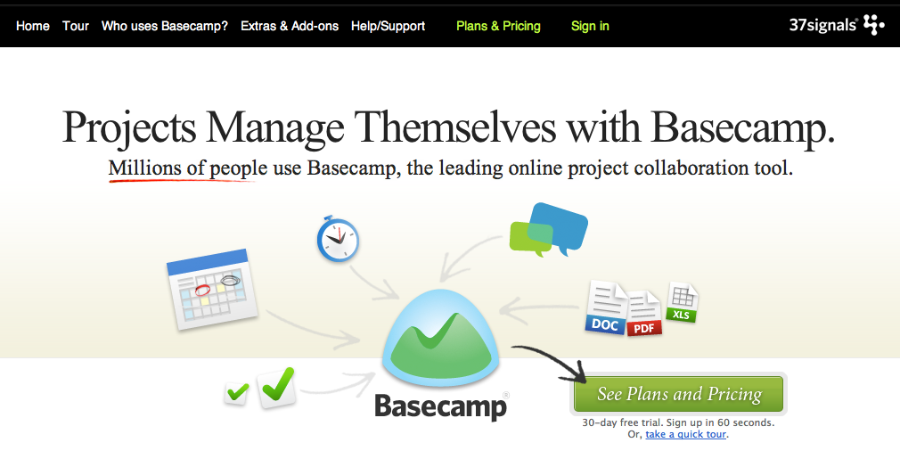 Projects with Basecamp