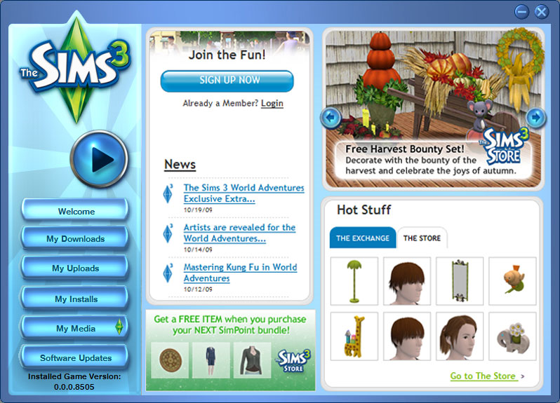 The Sims 3 control