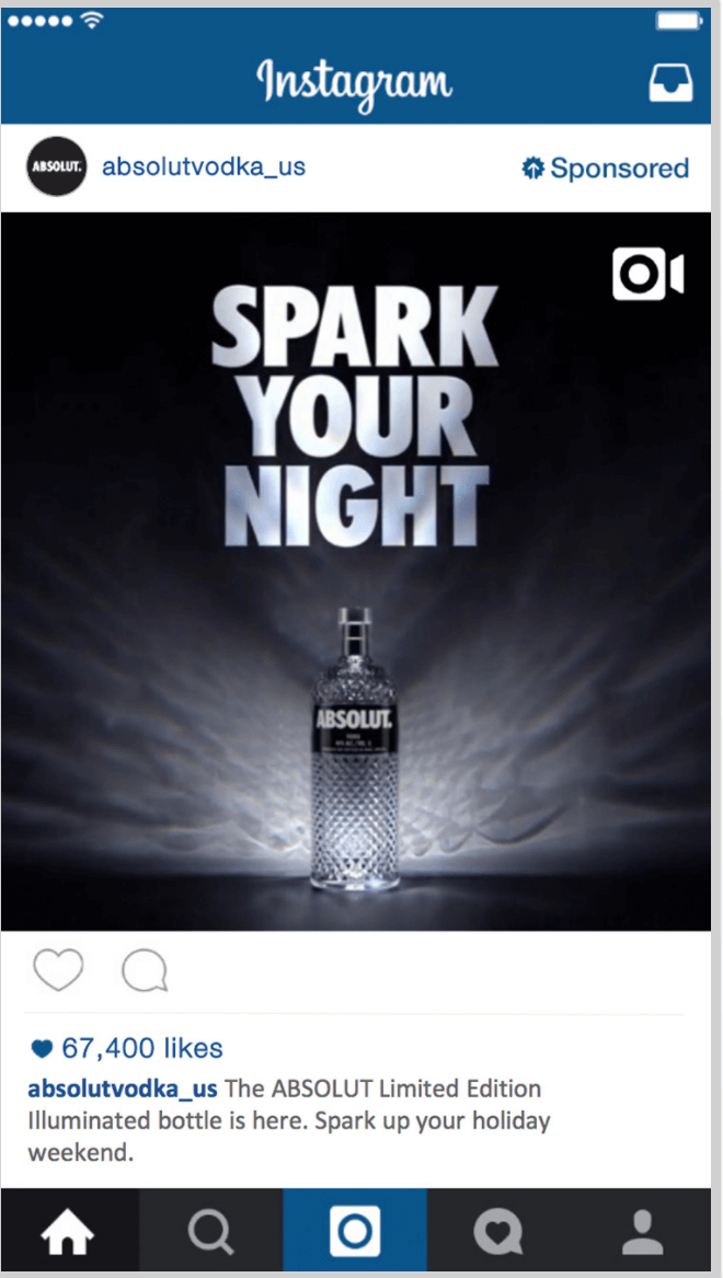 Absolut Vodka Instagram