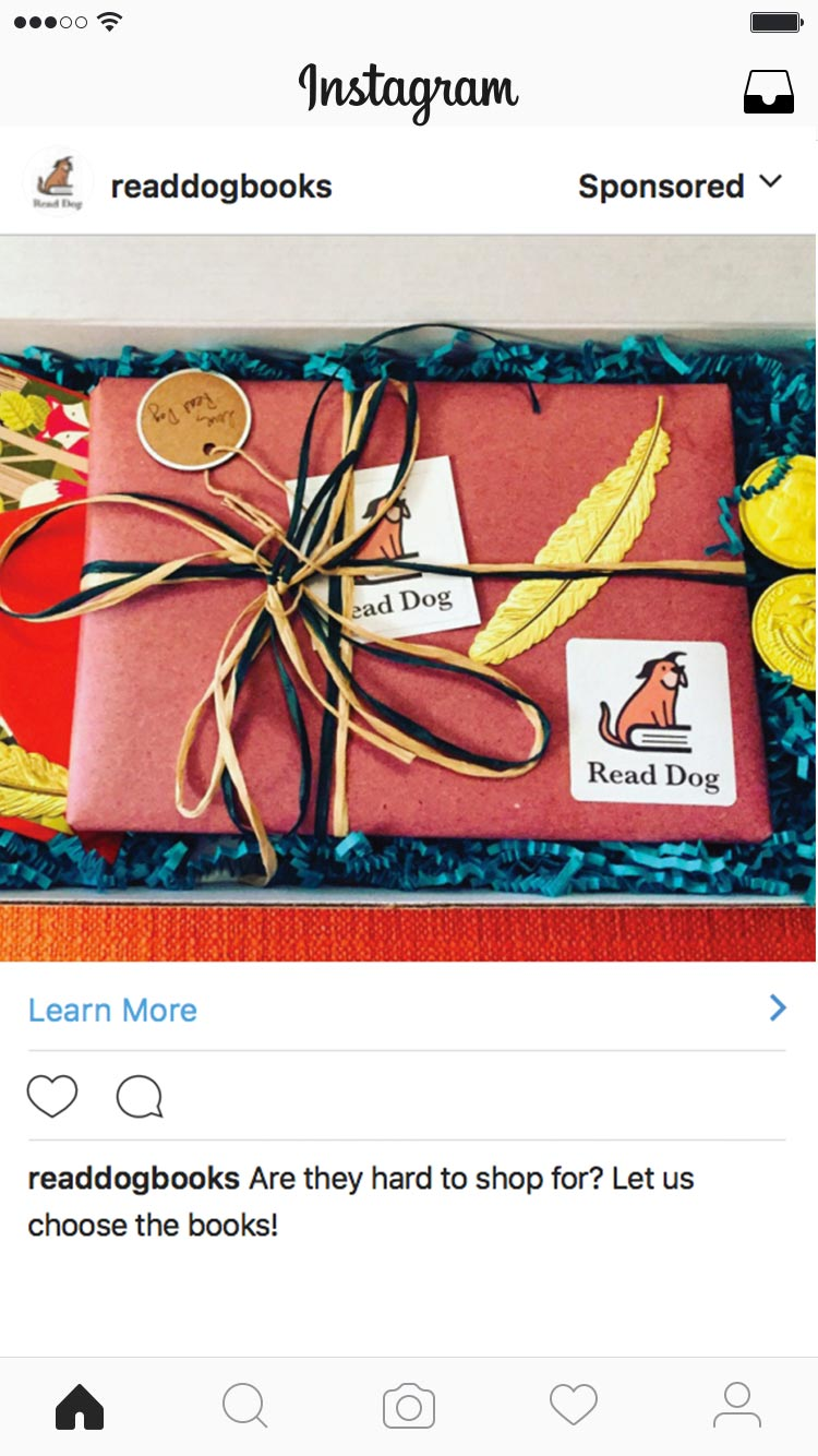Read Dog Books Instagram Ad