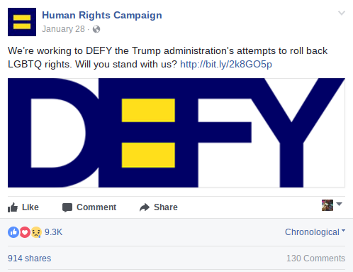 Human Rights Campaign DEFY