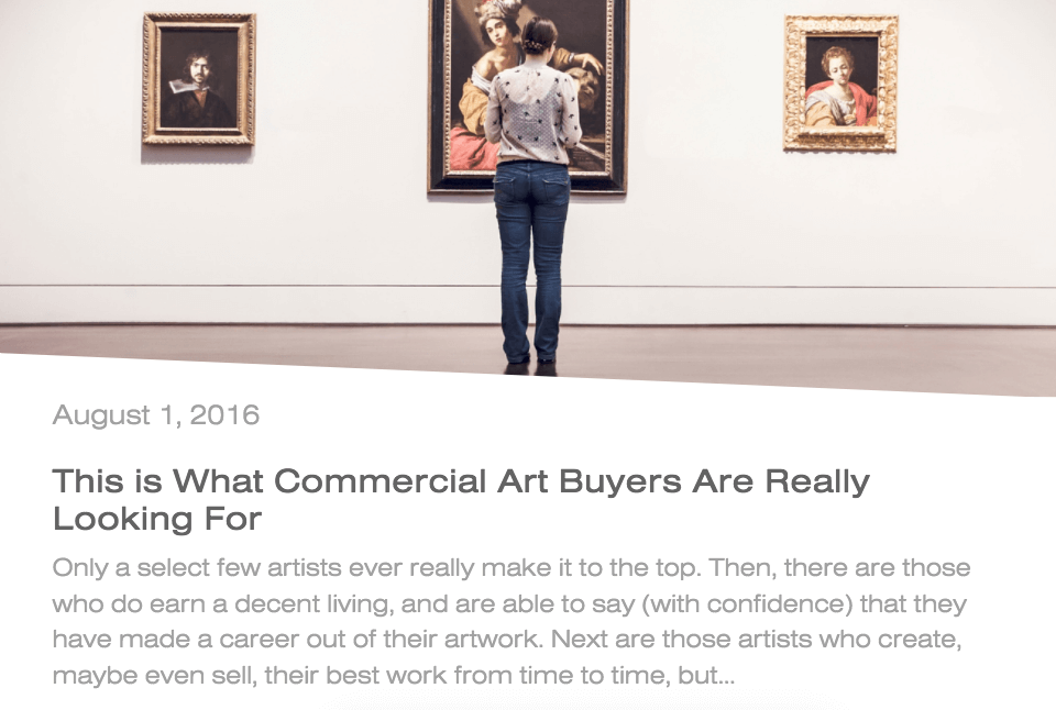 This is what commercial art buyers are really looking for