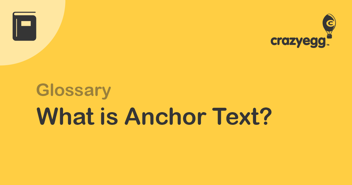 glossary what is anchor text