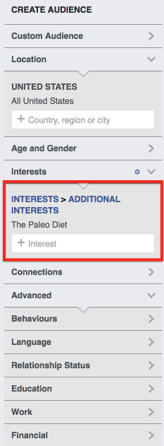 Audience Insights Interests