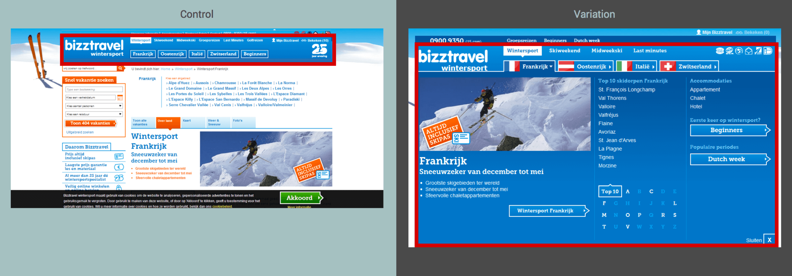 Bizztravel before and after