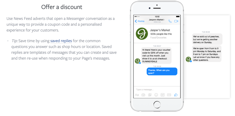 Offers For Messenger Ads