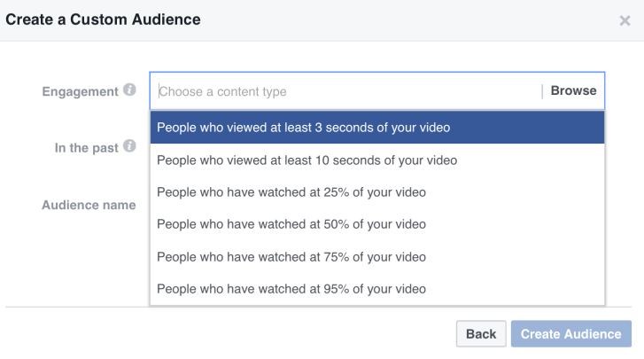 Video Watched Custom Audience