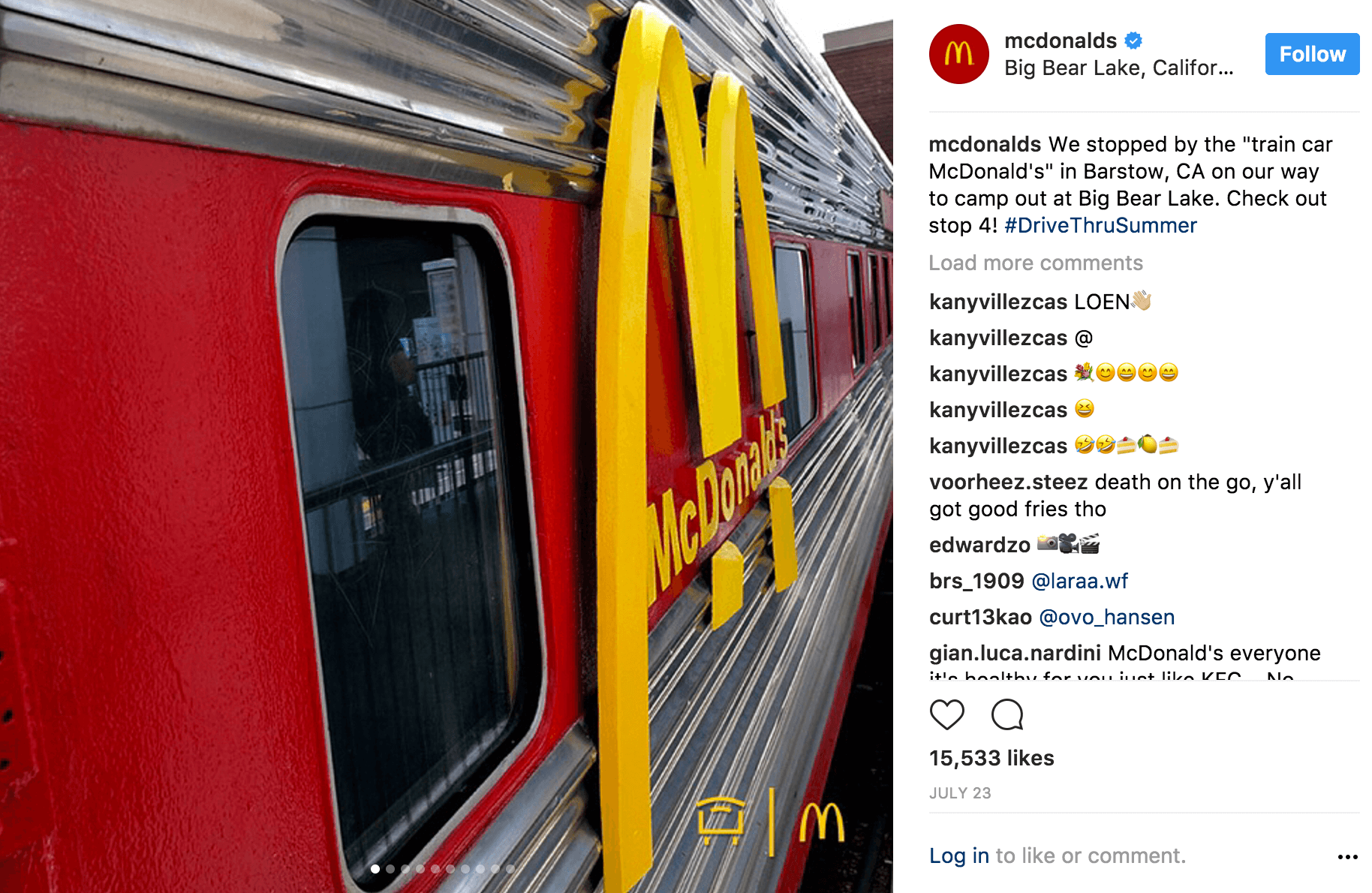 McDonalds Instagram