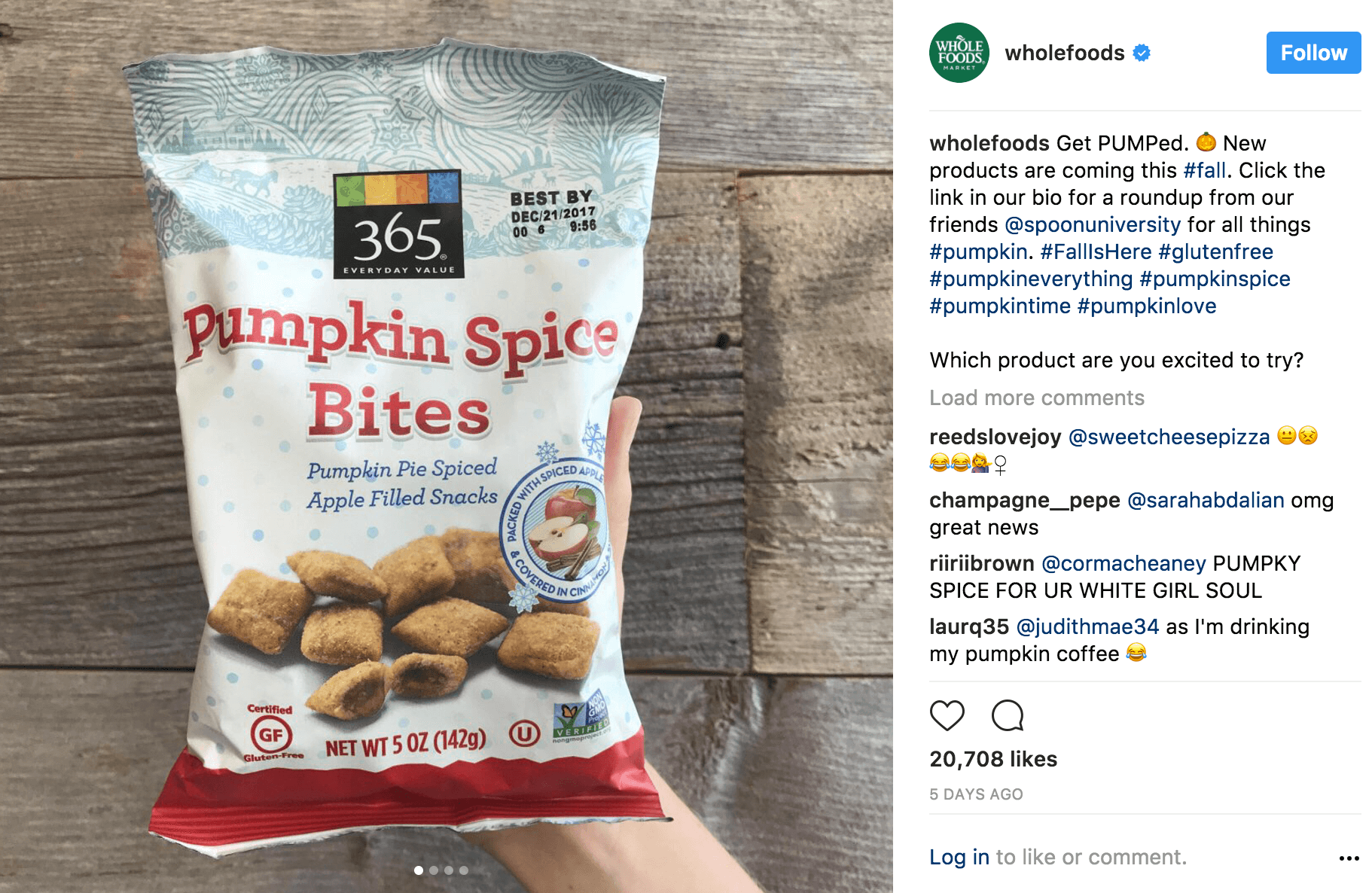 Wholefoods instagram