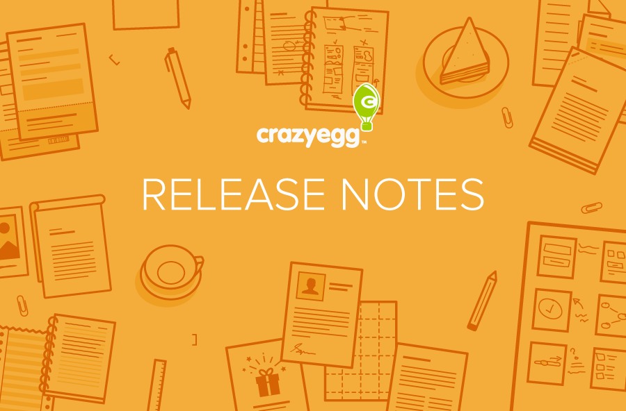 Crazy Egg Release Notes