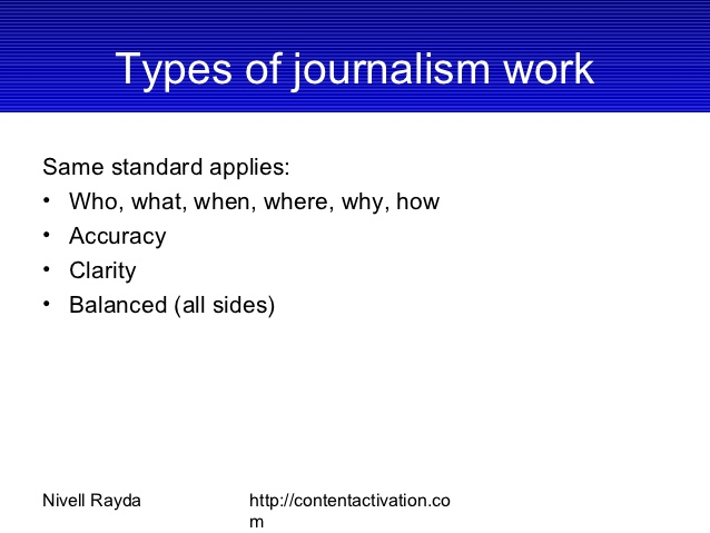 Types of Journalism