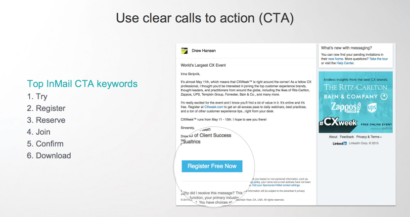 CTA Tips for InMails