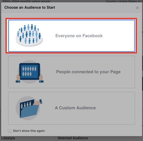 Choosing Audience Insights audience