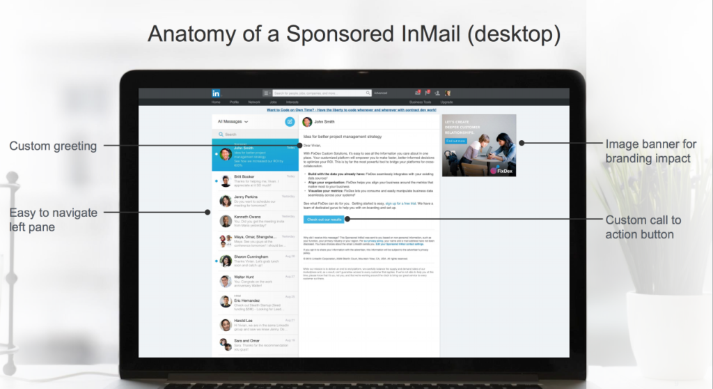 Example of InMail