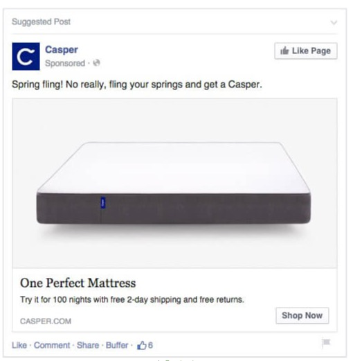 Facebook product ad