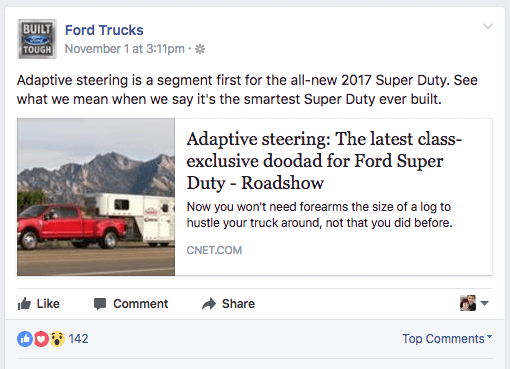 ford trucks facebook post
