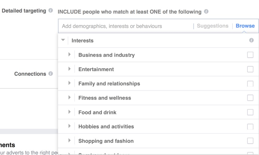 Interests Targeting Facebook