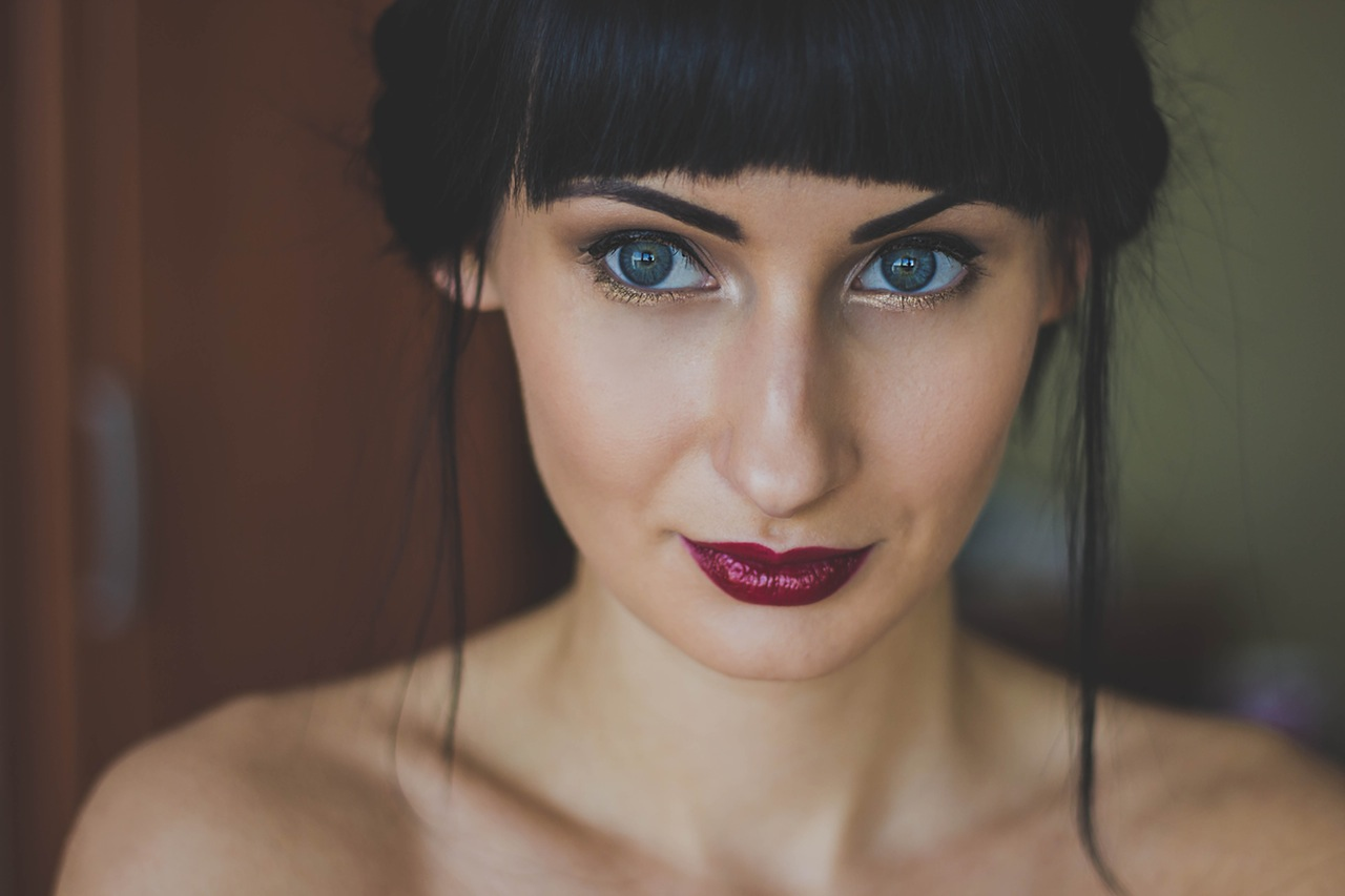 portrait of blue eyed woman