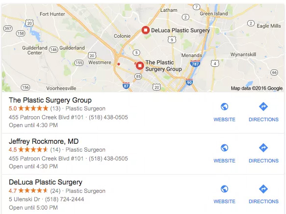 plastic surgery search results