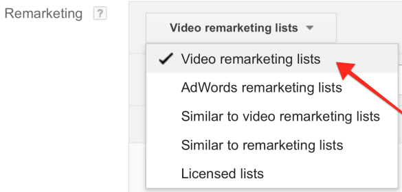 Click Video Remarketing Lists