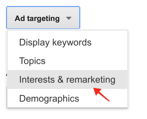 Select Interests and Remarketing