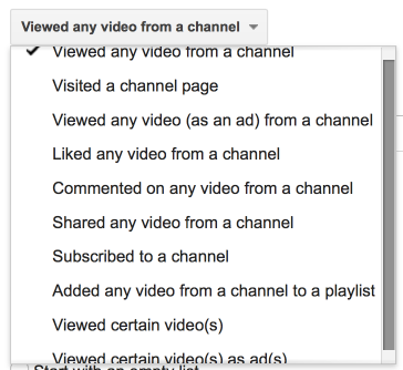 YouTube Remarketing Options