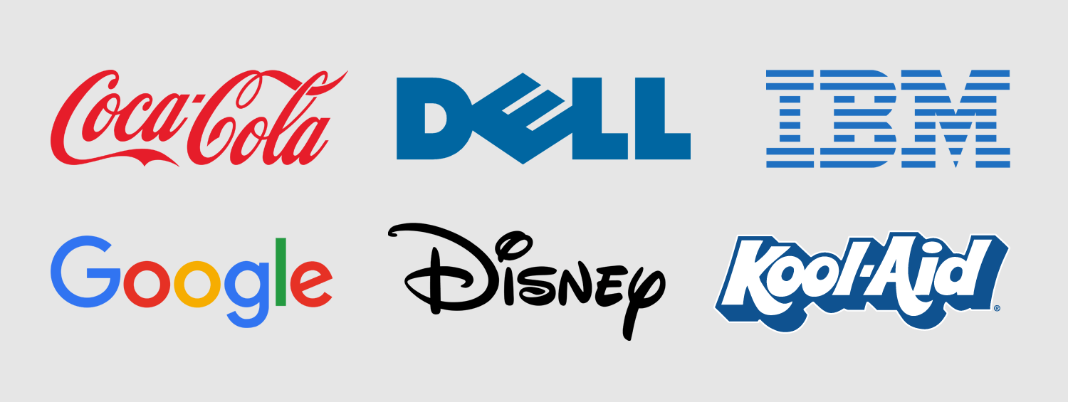 Examples of text-based logos
