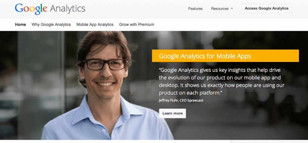 Mobile Google Analytics