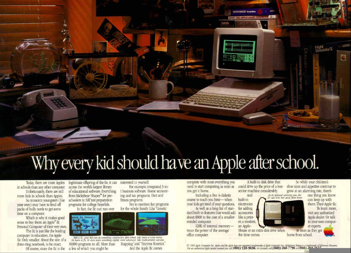 old school apple ad