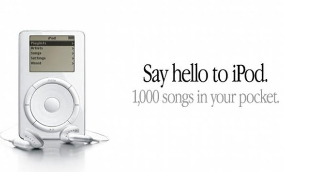 say hello to ipod