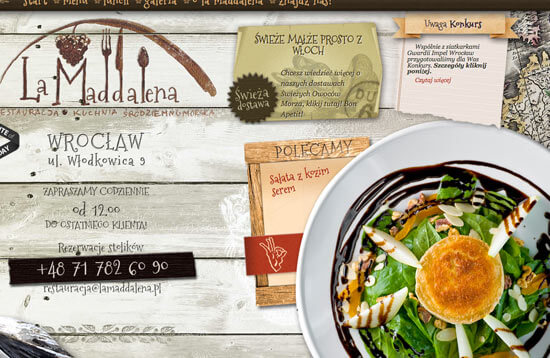 Beautiful restaurant website designs view examples